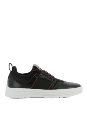 Hogan: trainers - Helix H341 leather & scuba sneakers
