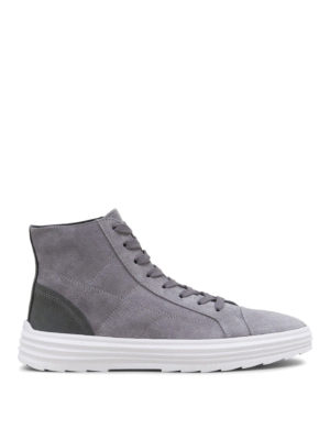 Hogan: trainers - Helix H341 quilted suede sneakers