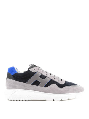 HOGAN: sneakers - Sneaker Interactive³ blu e grigie