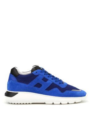 HOGAN: sneakers - Sneaker Interactive³ in suede blu