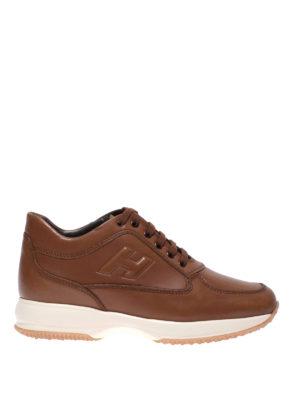 ac4cf343035a1 HOGAN  sneakers - Sneaker Interactive in pelle marrone