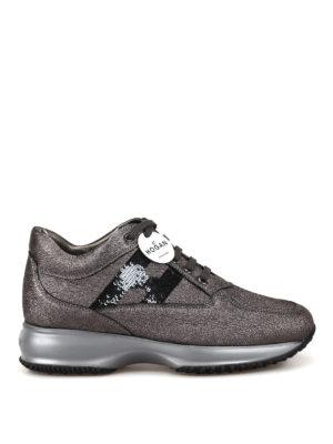94c89a7b3 HOGAN: sneakers - Sneaker Interactive in pelle craquelé