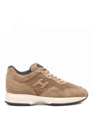 Hogan: trainers - Interactive drilled suede sneakers