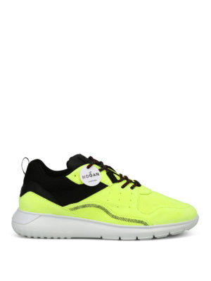 HOGAN: sneakers - Sneaker Interactive³ in suede fluorescente
