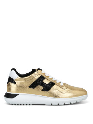 HOGAN: sneakers - Sneaker Interactive³ modello urbano color oro