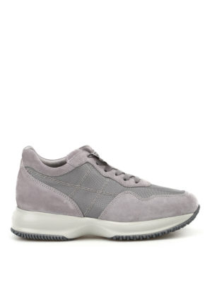 Hogan: trainers - Interactive grey stitching sneakers