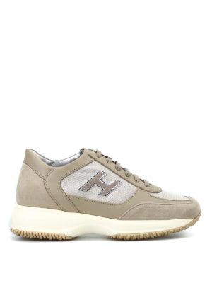 HOGAN: sneakers - Interactive beige con H vellutata