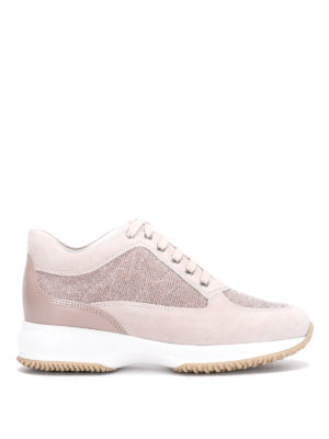 Hogan: trainers - Interactive lurex and suede sneaker