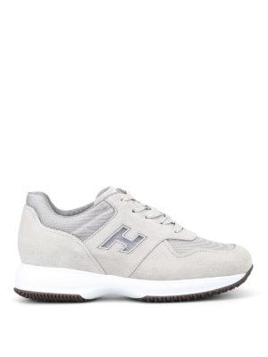 Hogan: trainers - Interactive mesh H beige sneakers