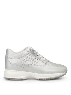 Hogan: trainers - Interactive metallic sneakers