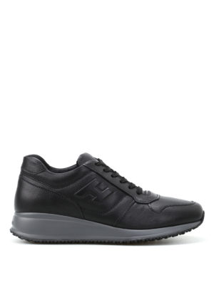 Hogan: trainers - Interactive N20 black sneakers