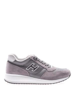 Hogan: trainers - Interactive N20 grey suede sneakers