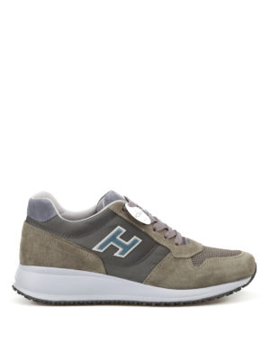 Hogan: trainers - Interactive N20 olive multi fabric