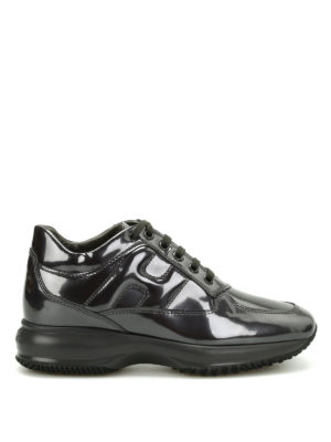 Hogan: trainers - Interactive patent leather sneakers
