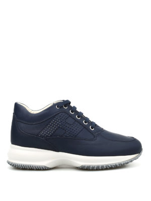 Hogan: trainers - Interactive perforated H sneakers