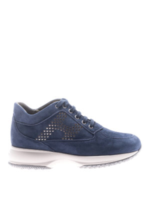 Hogan: trainers - Interactive polka dot H suede shoes