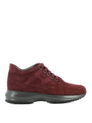 Hogan: trainers - Interactive red suede sneakers