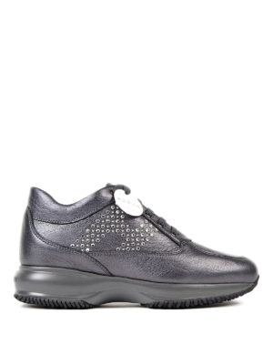 Hogan: trainers - Interactive rhinestone-H sneakers