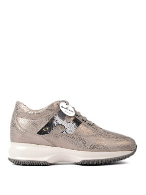 Hogan: trainers - Interactive sequined H sneakers