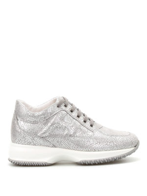 Hogan: trainers - Interactive shiny suede sneakers