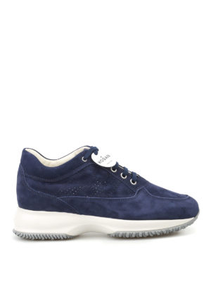 Hogan: trainers - Interactive soft suede sneakers