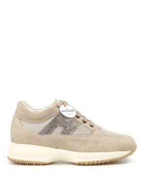 Hogan: trainers - Interactive strass H suede sneakers