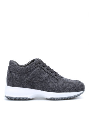 Hogan: trainers - Interactive wool fleece sneakers