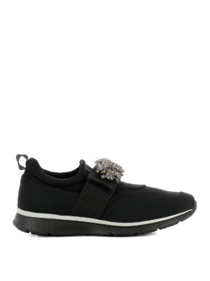 Hogan: trainers - Jewel slip-on fabric sneakers