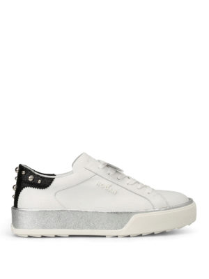 Hogan: trainers - Leather sneakers with round studs