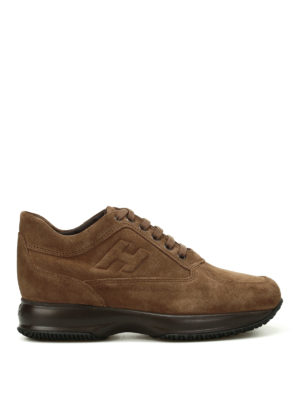 Hogan: trainers - Light brown suede Interactive