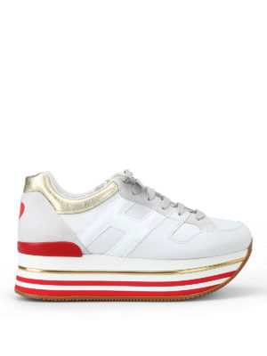 HOGAN: sneakers - Sneaker con dettaglio cuore e maxi plateau