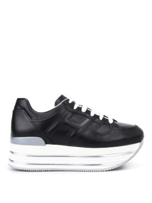 Hogan: trainers - Maxi 222 glossy leather sneakers