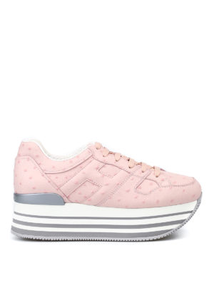 Hogan: trainers - Maxi 222 ostrich leather sneakers