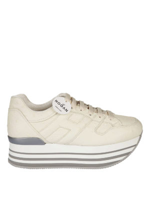 Hogan: trainers - Maxi 222 ostrich print sneakers