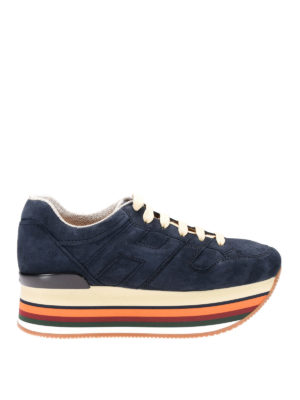 Hogan: trainers - Maxi H222 blue suede sneakers