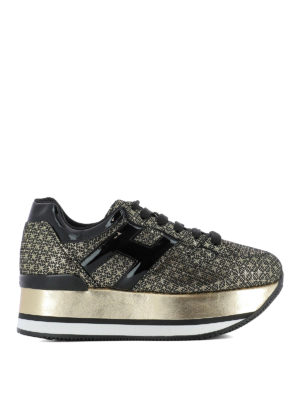 Hogan: trainers - Maxi H222 gold geometric sneakers