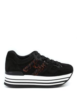HOGAN: sneakers - Sneaker Maxi H222 con H in cavallino