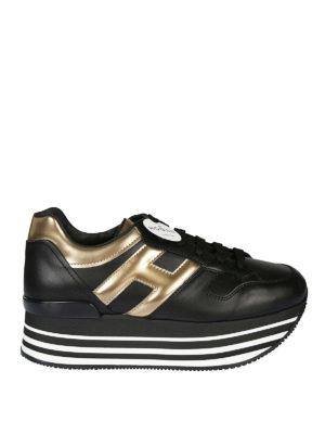 HOGAN: sneakers - Sneaker Maxi H222 con H metallizzata