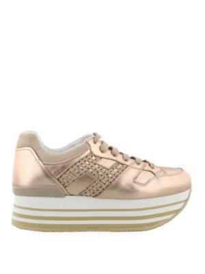 HOGAN: sneakers - Sneaker Maxi H222 metallizzate