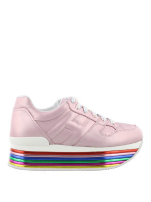 HOGAN: sneakers - Sneaker Maxi H222 rosa laminato