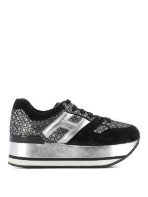 Hogan: trainers - Maxi H222 silver geometric sneakers