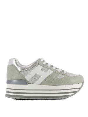Hogan: trainers - Maxi H222 textured suede sneakers
