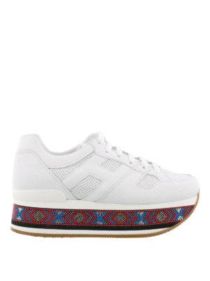 HOGAN: sneakers - Sneaker Maxi H222 con perline