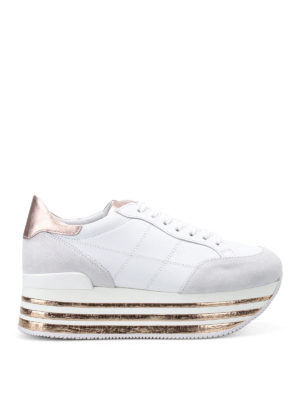 Hogan: trainers - Maxi platform two-tone sneakers