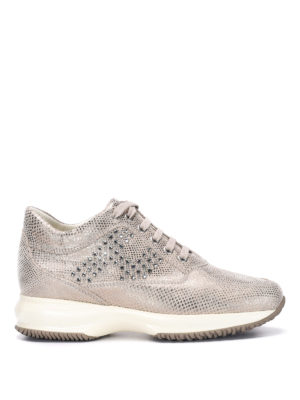 Hogan: trainers - Metallic leather sneakers