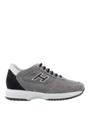 Hogan: trainers - New Interactive grey suede sneakers