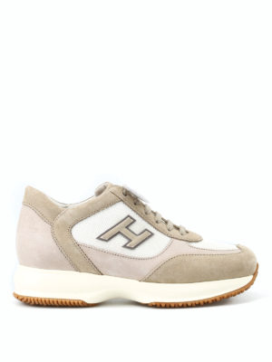 HOGAN: sneakers - Sneaker New Interactive H Flock suede corda