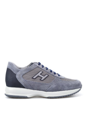 Hogan: trainers - New Interactive H Flock blue shoes