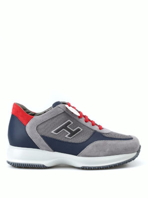 HOGAN: sneakers - Sneaker New Interactive H Flock grigie