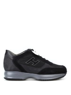 HOGAN: sneakers - Sneaker New Interactive con H vellutata